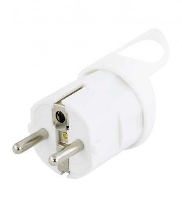 White angled Plug P0039 8595025391834