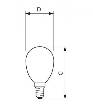 Classic LEDLuster ND 2.3-25W 220-240V 827 P45 CL E14