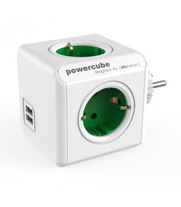 PowerCube Original USB Tipo F Verde PC:1202GN/DEOUPC 8718444085737
