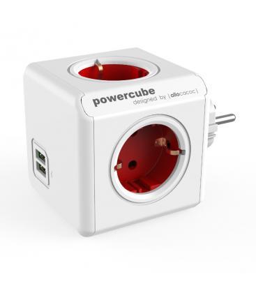 PowerCube Original USB Tipo F Rojo PC:1202RD/DEOUPC 8718444085690
