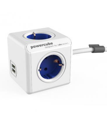 PowerCube Extended USB Tipo F Blu Cobalto 1.5 m PC:1402BL/DEEUPC 8718444086994