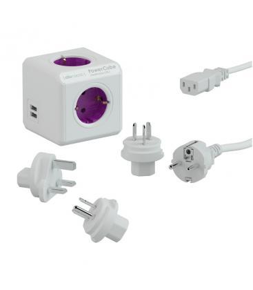 PowerCube ReWirable USB Type F Purple PC:1810/DERU4P 8718444082873