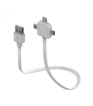 Cable USB de potencia 3 en 1 Mini USB Micro USB Apple Lighting PC:9002/UC80CN 8718444082798