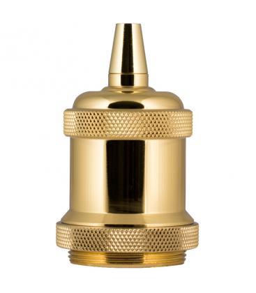 Retro Lampholder Alu E27 Gold 140910 8714681409107