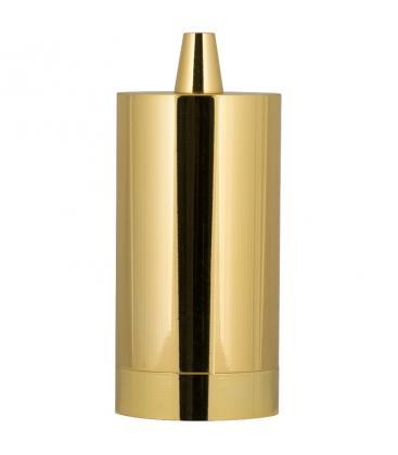 Fassung Alu Long E27 Gold 140911 8714681409114