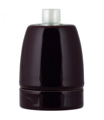 Lampholder Porcelain E27 Brown 139705 8714681397053