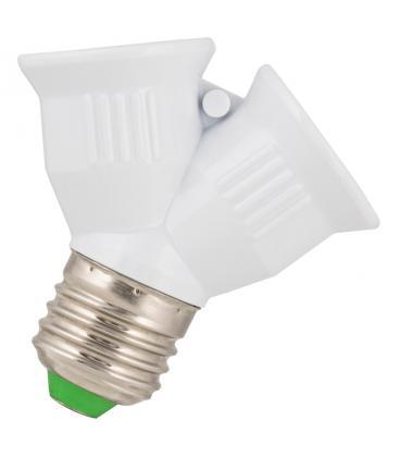 Lampholder Splitter E27 2xE27 White 140913 8714681409138
