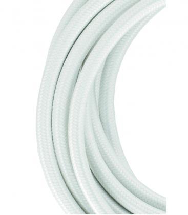 Cable Textil 2C Blanco 3m 139673 8714681396735