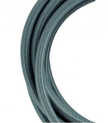 Câble textile 2C Gris 3m 139674 8714681396742