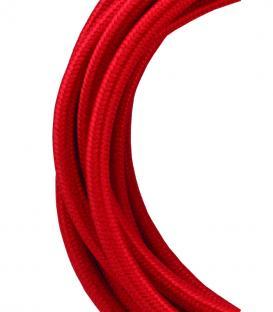 Più su Cavo tessile 2C Rosso 3m