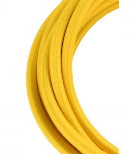 Plus de Câble textile 2C Jaune 3m