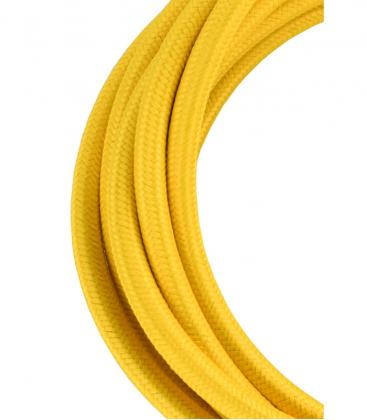 Textile Cable 2C Yellow 3m 139677 8714681396773