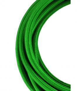 Più su Cavo tessile 2C Verde scuro 3m