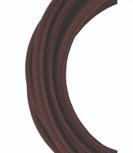 Plus de Câble textile 2C Marron 3m