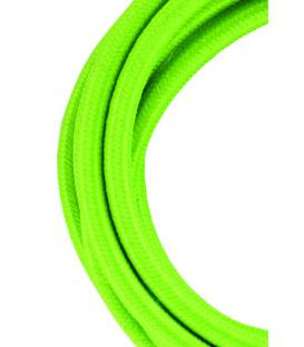 Più su Cavo tessile 2C Verde 3m