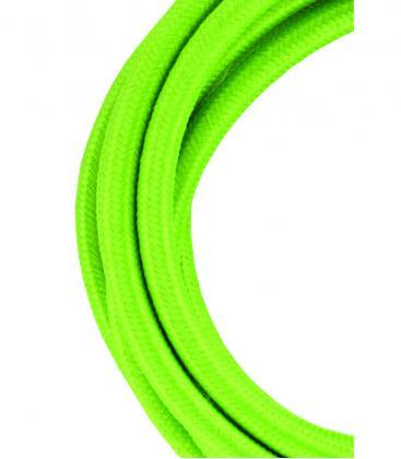 Câble textile 2C Vert 3m 139679 8714681396797