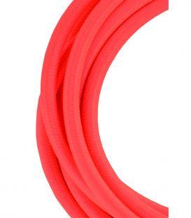 Più su Cavo tessile 2C Arancio 3m