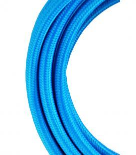 Plus de Câble textile 2C Bleu 3m
