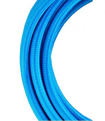 Tekstilni kabel 2C Modra 3m 139681 8714681396810