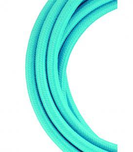 Plus de Câble textile 2C Bleu ciel 3m