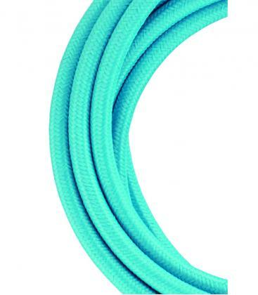Câble textile 2C Bleu ciel 3m 139682 8714681396827