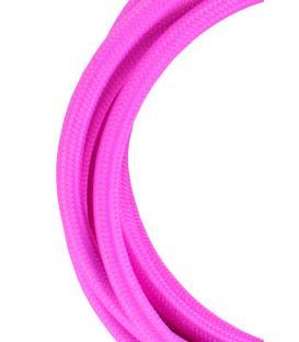 Più su Cavo tessile 2C Rosa 3m