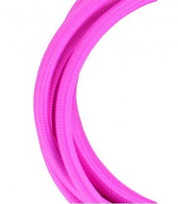 Textile Cable 2C Pink 3m 139684 8714681396841