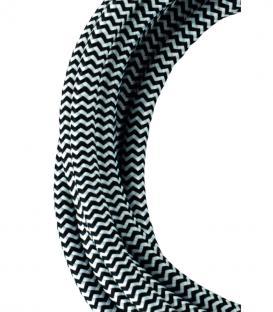 Mehr über Textilkabel 2C Schwarz/Weiß 3m