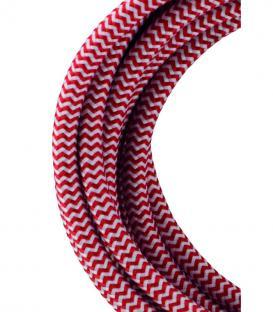 Plus de Câble textile 2C Rouge/Blanc 3m