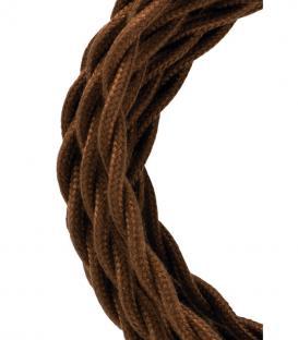 Plus de Câble textile Twisted 2C Marron 3m