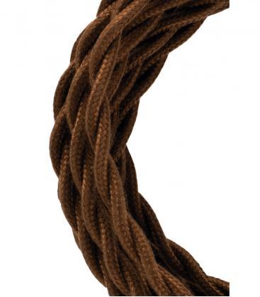 Câble textile Twisted 2C Marron 3m 139689 8714681396896