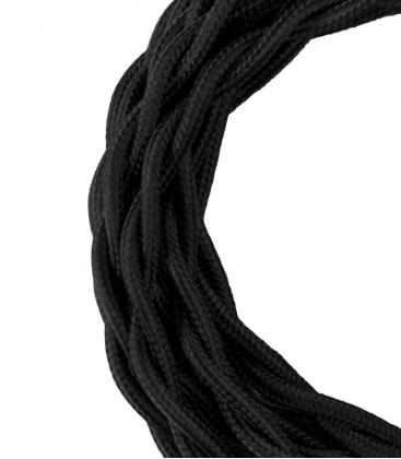 Cable Textil Twisted 2C Negro 3m 140308 8714681403082