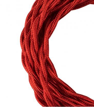 Câble textile Twisted 2C Rouge métallique 3m 140310 8714681403105