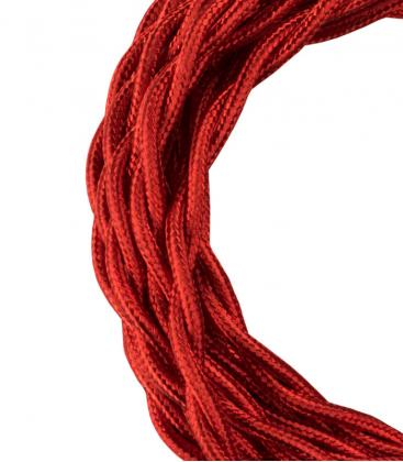 Textile Cable Twisted 2C Metallic Red 3m 140310 8714681403105