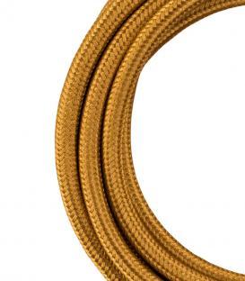 Più su Cavo tessile 2C Oro metallico 3m
