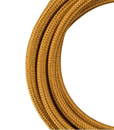 Câble textile 2C Or métallique 3m 140311 8714681403112