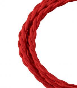 Plus de Câble textile Twisted 2C Rouge 3m