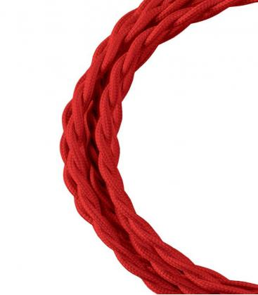 Cavo tessile Twisted 2C Rosso 3m 140707 8714681407073
