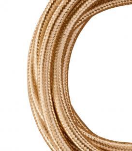 Mehr über Textilkabel 2C Metallischer Champagner 3m