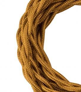 Plus de Câble textile Twisted 2C Or métallique 3m