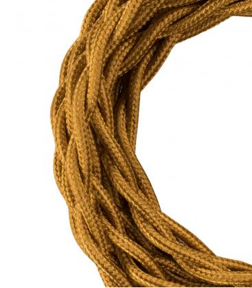 Cable Textil Twisted 2C Oro metalizado 3m 140314 8714681403143