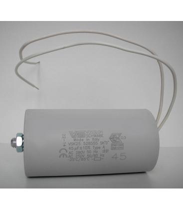 Condensatore VS 45mF 50/60Hz 250V 40977 528555 4050732322624