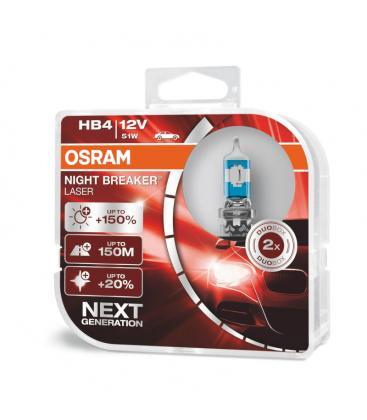 HB4 12V 51W 9006 NL Night Breaker Laser Double pack 9006-NL-DUO 4062172114417