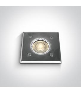Più su Rettangolare da incasso in acciaio inox 35W GU10 IP67