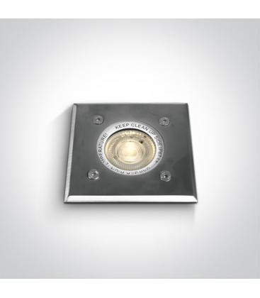 Empotrado Acero inoxidable 35W GU10 IP67 Rectangular 69008G 5291889036432