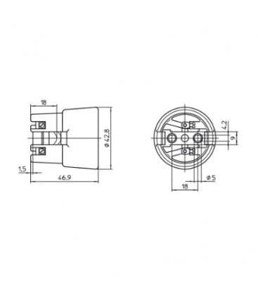 Fassung E27 Porzellan M4 62310
