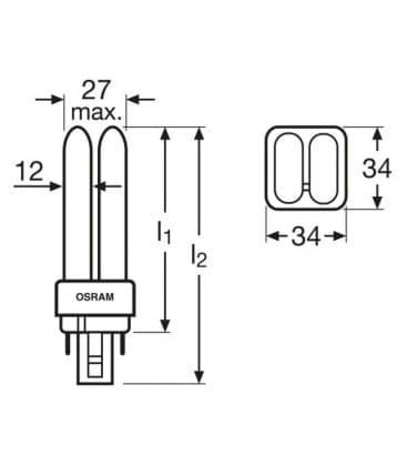 TC-d Dulux D-e 26W-827