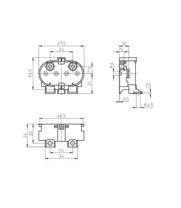 Lampenhalter Fassung 2G11 Klammer