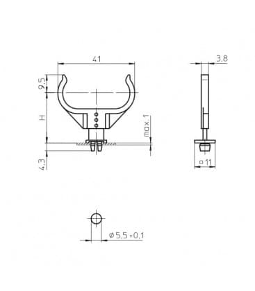 Lamp supports for 2G11