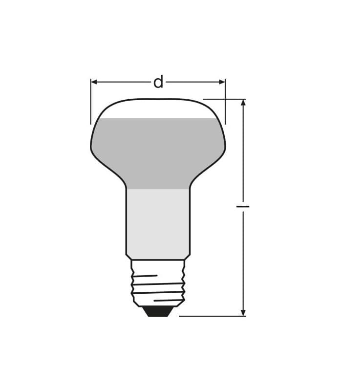 Osram Concentra R63 40w E27 Yellow Colored Light Bulbs And Lamps
